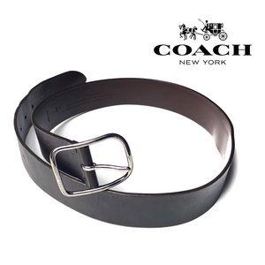 Coach Leather Belt w/ Silver Buckle